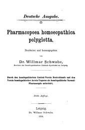 Pharmacopoea homoeopathica polyglotta