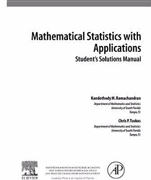 Student Solutions Manual  Mathematical Statistics with Applications