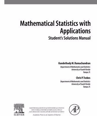 Student Solutions Manual, Mathematical Statistics with Applications