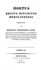 Hortus Regius Botanicus Berolinensis: Volume 2