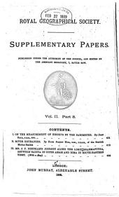 Supplementary Papers: Volume 2, Parts 3-4