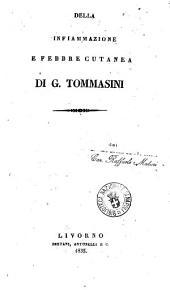 Della infiammazione e febbre cutanea di G. Tommasini