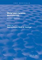 Metal and Ceramic Biomaterials PDF