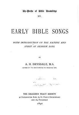 Early Bible Songs