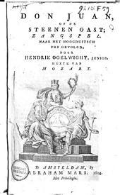 Don Juan, of De steenen gast: zangspel