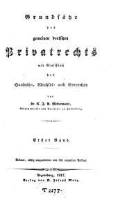 Grundsätze des gemeinen deutschen Privatrechts: Band 1
