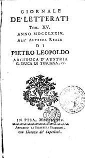 Giornale de' letterati: Volumi 15-16