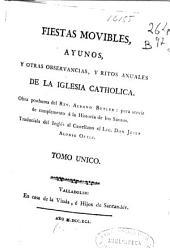 Fiestas movibles, ayunos y otras observancias, y ritos anuales de la Iglesia Catholica