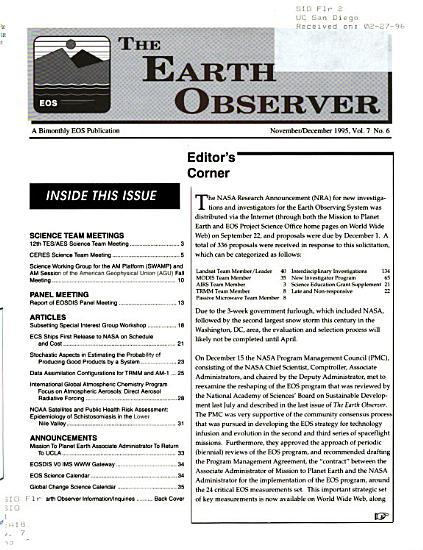 The Earth Observer PDF