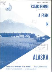 Establishing A Farm In Alaska Book PDF