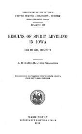 Results of spirit leveling in Iowa: 1896 to 1913, inclusive. Work done in cooperation with the State of Iowa from 1907 to 1913, inclusive