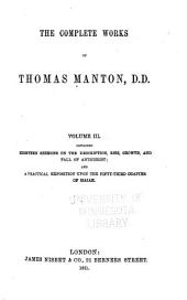 The Complete Works of Thomas Manton, D.D.: With a Memoir of the Author, Volume 3