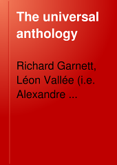 The Universal Anthology: A Collection of the Best Literature, Ancient, Mediæval and Modern, Volume 12
