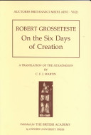 On the Six Days of Creation