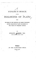 A Subject index to the Dialogues of Plato PDF