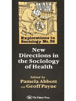 New Directions In The Sociology Of Health PDF