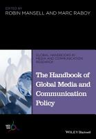 The Handbook of Global Media and Communication Policy PDF