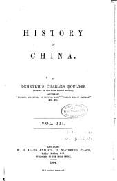 History of China: Volume 3