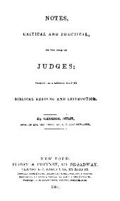 notes, critical and practical, on the book of judges