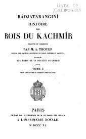 Râdjataranginî: histoire des rois du Kachmîr, Volume1