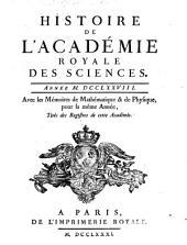 Histoire de l'Académie Royale des Sciences: avec les mémoires de mathématique et de physique pour la même année : tirés des registres de cette Académie. 1778 (1781)