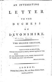An interesting letter to the Duchess of Devonshire