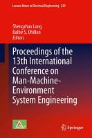 Proceedings of the 13th International Conference on Man Machine Environment System Engineering PDF