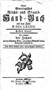 Neues Genealogisches Reichs  und Staats Handbuch PDF