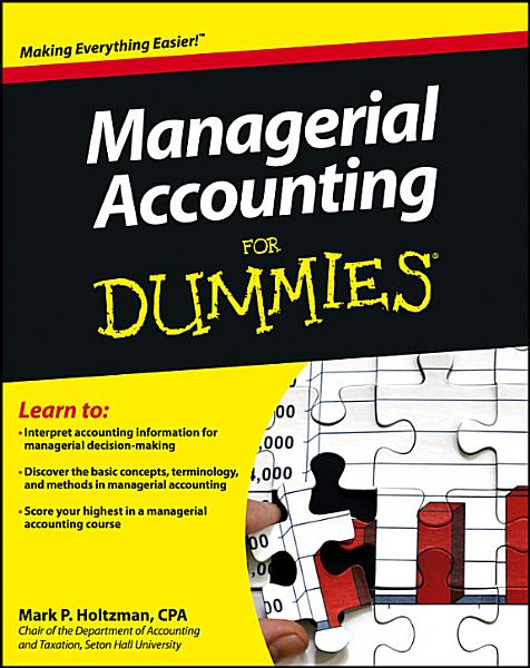 Managerial Accounting For Dummies Pdf Book