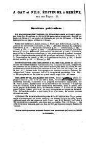Bibliographie de la Belgique: ou catalogue général de l'imprimerie et de la librairie belges. 1868