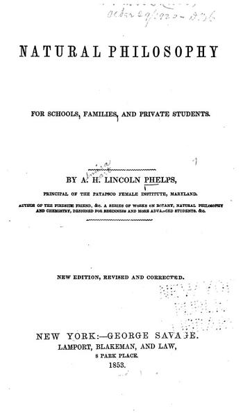Natural Philosophy For Schools Families And Private Students