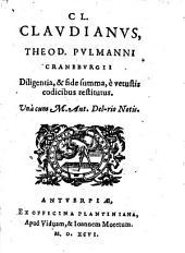 Theodori Pulmanni diligentia ... restitutus, unacum M. Ant. Del-Rio notis