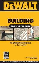 Dewalt Building Code Reference Book PDF