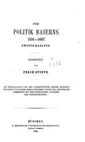 Briefe und akten zur geschichte des dreissigjährigen krieges in den zeiten des vorwaltenden einflusses der Wittelsbacher ...: Auf veranlassung und mit unterstützung Seiner Majestät des königs von Bayern Maximilian II.