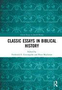 Classic Essays in Biblical History PDF