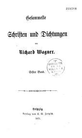 Gesammelte Schriften und Dichtungen: Band 1