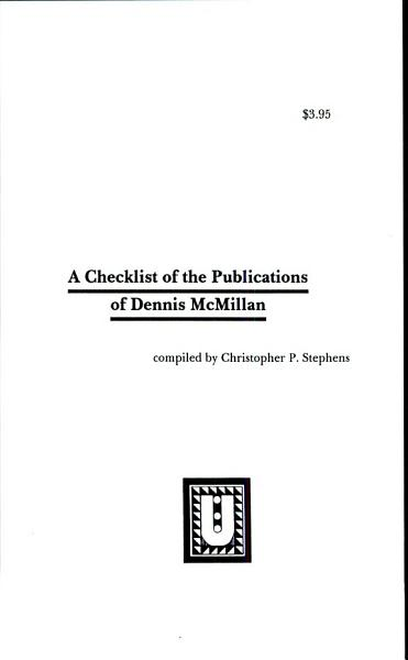 A Checklist Of The Publications Of Dennis Mcmillan