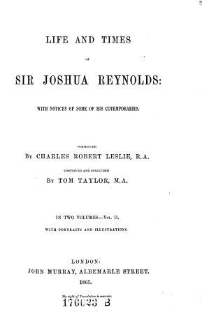 Life and Times of Sir Joshua Reynolds PDF