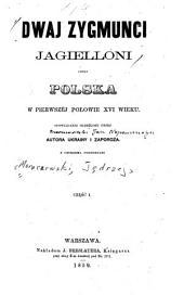 Dwaj Zygmunci Jagielloni, czyli Polska w pierwszej połowie XVI wieku: Opowiadanie skreślone przez autora Ukrainy i Zaporoža