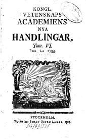 Kungliga Svenska Vetenskapsakademiens handlingar: 1785