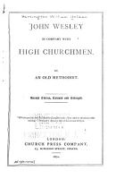 John Wesley in Company with High Churchmen PDF
