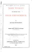 John Wesley in Company with High Churchmen PDF