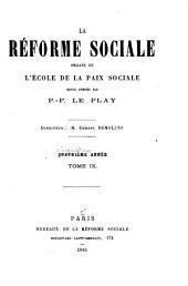 La Réforme sociale: Volume9