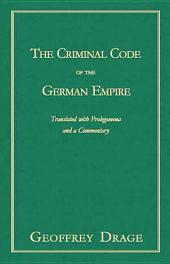 The Criminal Code of the German Empire
