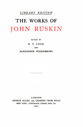 The works of John Ruskin: Volume 27