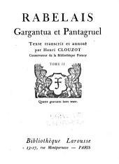Gargantua et Pantagruel: Volume2