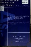 The Political Economy of South Korea PDF