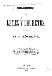 Coleccion de leyes y decretos, publicados en el año de 1839[-41, 1844-48, 1850]: Volumen 4
