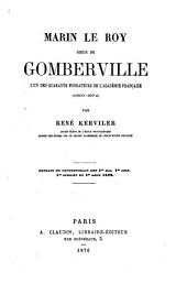 Marin Le Roy, sieur de Gomberville: l'un des quarante fondateurs de l'Académie française (1600-1674)