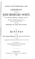 Minutes of the     Annual Meeting of the General Conference of the Congregational Churches in Maine PDF